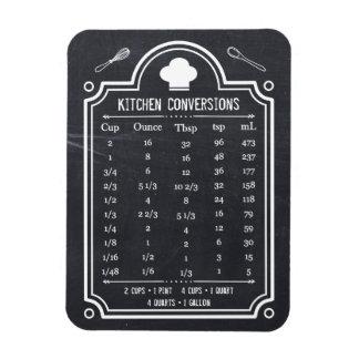 Tabla de conversión elegante de la cocina de la imán de vinilo