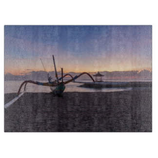 Tabla De Cortar Amanecer, Sanur, Bali, Indonesia