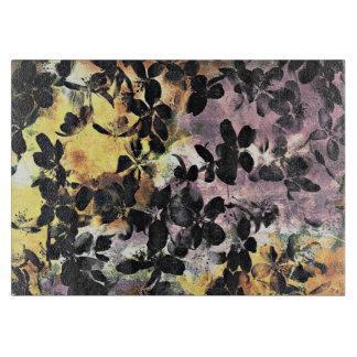 Tabla De Cortar Arte digital floral del estampado de plores rosado