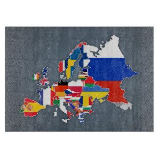 Tabla De Cortar Banderas de país europeas del mapa el |