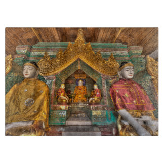 Tabla De Cortar Buddhas en un templo