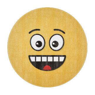 Tabla De Cortar Cara sonriente con la boca abierta