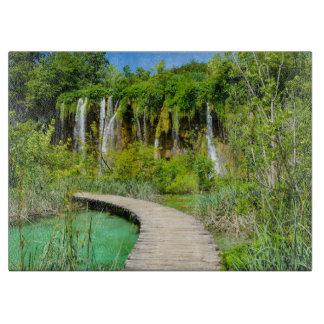 Tabla De Cortar Cascadas en el parque nacional de Plitvice en