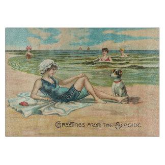 Tabla De Cortar Chica del traje de baño de la playa del Victorian