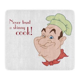 Tabla De Cortar Cocinero divertido del cocinero