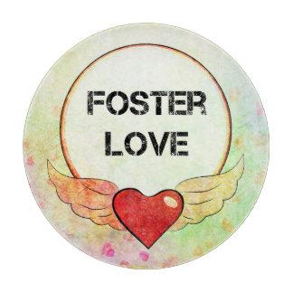 Tabla De Cortar Corazón adoptivo de la acuarela del amor