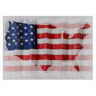 Tabla de cortar de la bandera de US/American