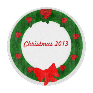 Tabla de cortar de la guirnalda del navidad