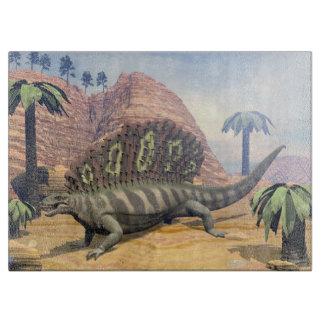 Tabla De Cortar Dinosaurio del Edaphosaurus que camina en el