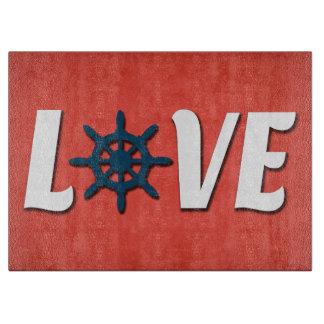 Tabla De Cortar Diseño náutico del amor