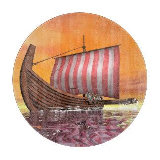 Tabla De Cortar Drakkar o nave de vikingo - 3D rinden
