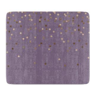 Tabla De Cortar el confeti color de rosa atractivo del oro del