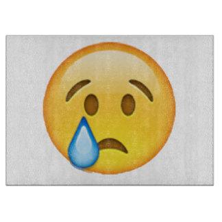 Tabla De Cortar Emoji - llorando
