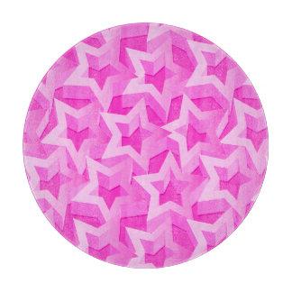 Tabla De Cortar estrellas del rosa 3D