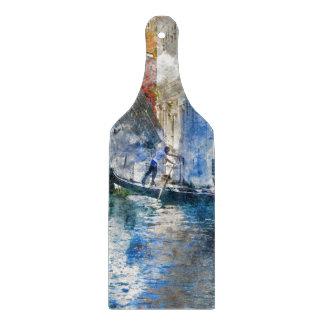Tabla De Cortar Góndola en el Gran Canal de Venecia Italia