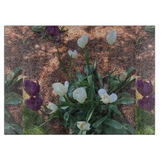Tabla De Cortar Jardín de las flores blancas como la nieve del