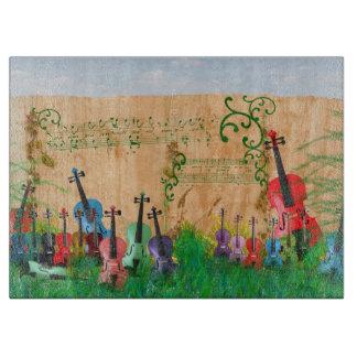 Tabla De Cortar Jardín del violín