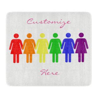 Tabla De Cortar las derechas LGBTQIA Thunder_Cove de las mujeres