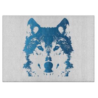 Tabla De Cortar Lobo de los azules claros del ilustracion