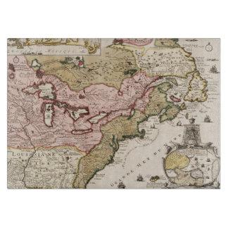 Tabla De Cortar Mapa medieval América del francés de Quebec/de
