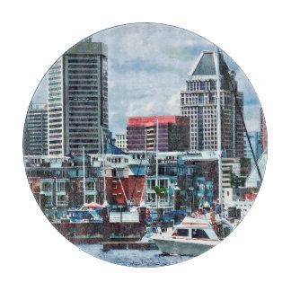 Tabla De Cortar MD de Baltimore - Horizonte de Baltimore en el río