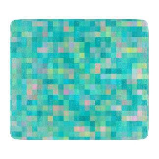 Tabla De Cortar Modelo multicolor del arte del pixel
