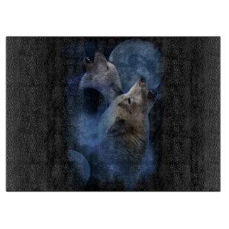 Tabla De Cortar Montaña de la luna del lobo de la fantasía