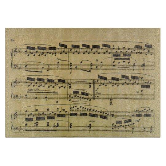 Tabla De Cortar Músico de las notas musicales el | del papel de