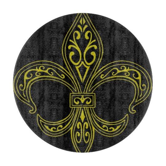 Tabla De Cortar Negro y tablero decorativo del corte del vidrio