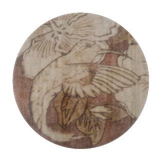 Tabla De Cortar Pájaro del tarareo del hibisco