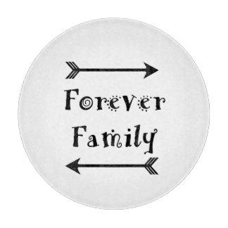 Tabla De Cortar Para siempre familia - diseño de Adpotion