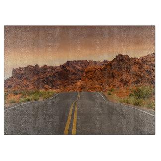 Tabla De Cortar Puesta del sol del viaje por carretera