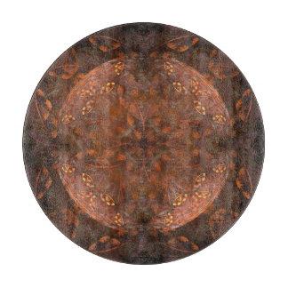 Tabla De Cortar Reflejo de cobre de oro