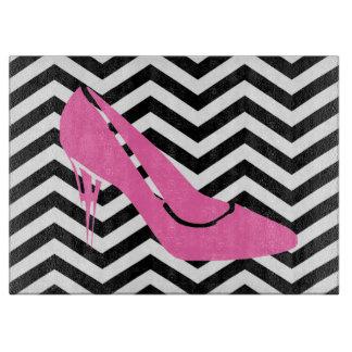 Tabla de cortar rosada del estilete