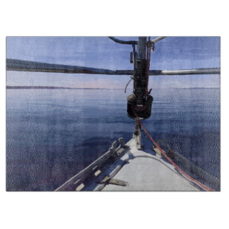 """Tabla De Cortar """"Seaking barco de vela del horizonte"""""""