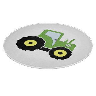 Tabla De Cortar Tractor verde del juguete