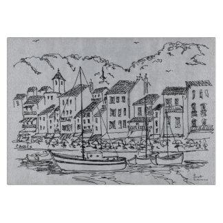 Tabla De Cortar Veleros en el puerto el | Cassis, Francia