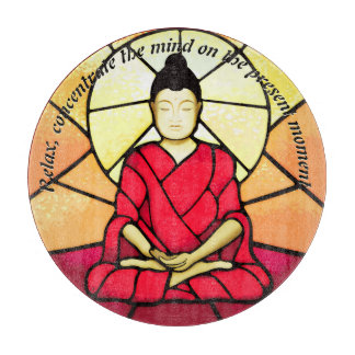 Tabla De Cortar Ventana de cristal de la mancha de Bali Buda