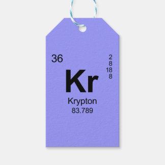 Tabla de elementos periódica (criptón) etiquetas para regalos