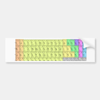 Tabla de elementos periódica pegatina para coche