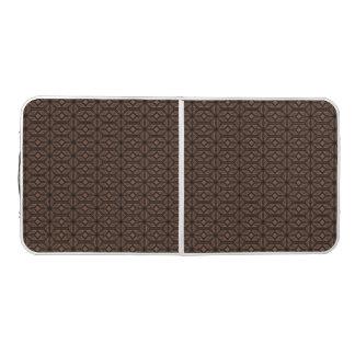 Tabla de ping-pong marrón del mosaico mesa de pong