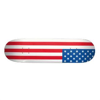 Tabla De Skate Barras y estrellas de la bandera de los E.E.U.U.