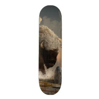 Tabla De Skate Bisonte medio blanco