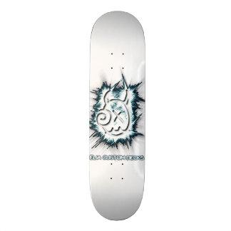 Tabla De Skate Cubierta espumosa del blanco del logotipo