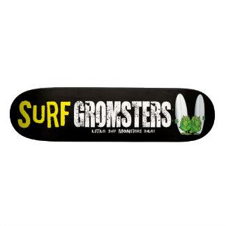 Tabla De Skate De la resaca de Gromsters negro completamente