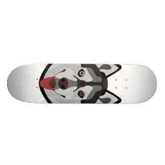 Tabla De Skate El ilustracion persigue el husky siberiano de la