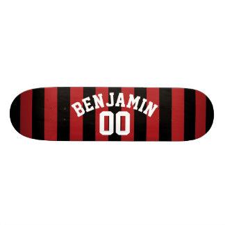 Tabla De Skate El jersey negro y rojo del rugbi raya el número