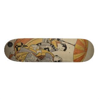 Tabla De Skate Grabar en madera japonés #2