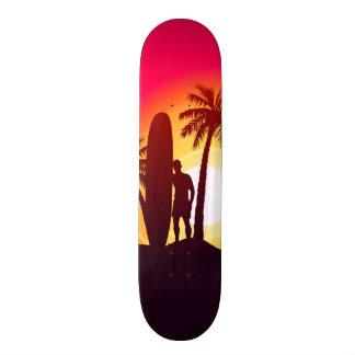 Tabla De Skate Longboard y palmas