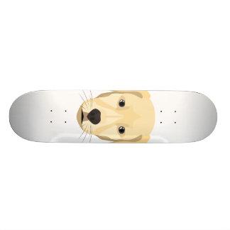 Tabla De Skate Perrito Retriver de oro del ilustracion